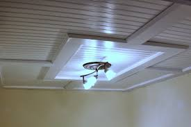 Lights For Drop Ceiling Basement by Beadboard Drop Down Ceiling A Great Looking Way To Have Access