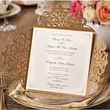 gold wedding invitations graceful gold laser cut wedding invitations ewws058 as low as 2 09