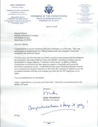 letter of certification of employment template letter from mike thompson member of congress ghilotti mike thompson
