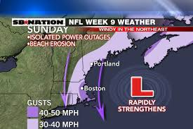 Seattle Power Outage Map by Nfl Weather Forecast Week 9 A Taste Of Winter Sbnation Com