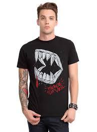 spirit halloween vampire fangs pierce the veil vampire fangs t shirt topic