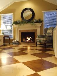 Checkerboard Laminate Flooring Decking Dark Varnished Mahogany Wood Flooring Interior Handsome