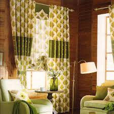 Green Color Curtains Curtains Polyester Living Room Large Curtains With Led Lamp Faux