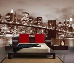 brooklyn bridge at night in sepia colour wall mural 12 wide by 8 other sizes available