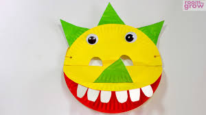 dinosaur mask made out of paper plates youtube
