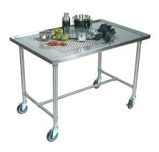 stainless steel butcher table stainless steel kitchen cart boos mariner stainless steel serving