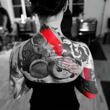 back trash polka tattoo for best tattoo ideas gallery