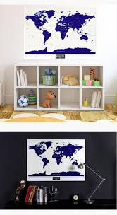 World Map Wall Sticker by Gift For Girlfriend Or Boyfriend Travel Scratch Map Luminous