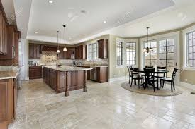interior photos luxury homes large kitchen in luxury home with area stock photo picture