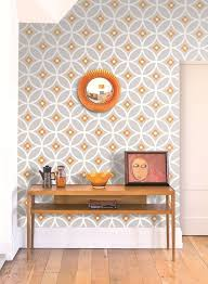 gorgeous retro geometric wallpaper design by layla faya in the