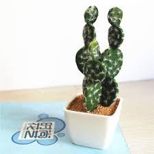 Succulent Plant Realistic Cactus Artificial Succulent Plants With Plastic Pot