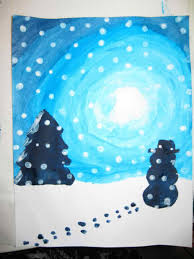 sara den days winter landscape paintings for kids of winter