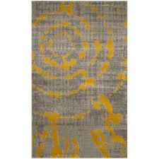 Yellow Area Rugs World Menagerie Chaima Light Gray Yellow Area Rug Reviews Wayfair