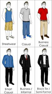 what are the different levels of formality in dress code
