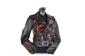 motorcycle leathers motorcycle jacket lita classic leather and leopard print