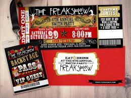 carnival freak show halloween invite halloween party halloween