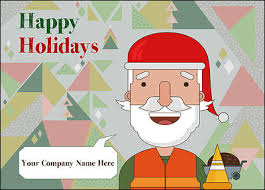 santa construction cards for your business