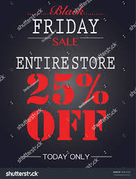 black friday sale stores black friday sale 25 off poster stock vector 339812948 shutterstock