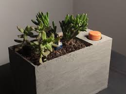 self watering indoor planters sprout modern indoor self watering planter hackster io