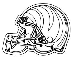 nfl football helmet coloring pages cincinnati bengals helmet coloring page coloring home