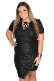 plus size short black tribal print party dress