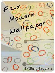 how to paint faux wallpaper h20bungalow