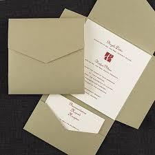 invitation pockets gold pocket self mailer invitation pockets carlson craft