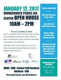 career path services u003e worksource pierce job center open house
