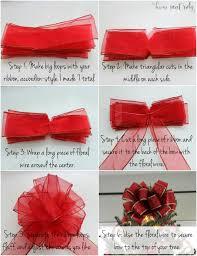 christmas ribbon bows how to make a bow with ribbon diy christmas tree bow home