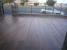 Wood Grain Stamped Concrete by Wood Stained Concrete Westerville Ohio