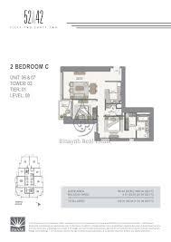 42 2 bedroom apartment floor plan 24