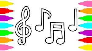 how to draw written music coloring pages for kids children and