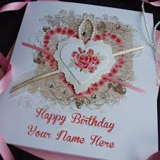 special wife name writing lovely birthday wishes card pix