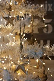 decorations lighted white christmas tree idea featuring metal
