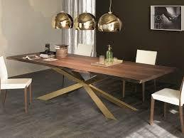 tavolo ovale legno cattelan italia spyder wood tavolo rettangolare in acciaio e