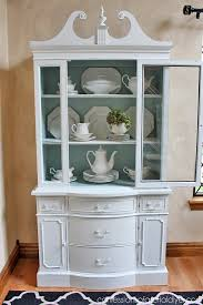china hutch duck and white china hutch china hutch makeover from