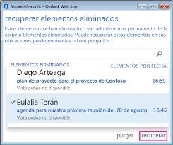 hotmail y los mensajes en el movil recuperación de elementos o mensajes de correo electrónico