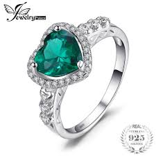 925 sterling silver v shaped heart promise ring size 5 6 7 8 9 10 jewelrypalace heart of 1 8ct created emerald forever