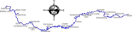 cumberland river map river maps