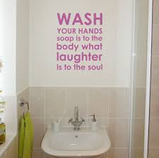 bathroom glamorous gold frame with quote for bathroom wall art