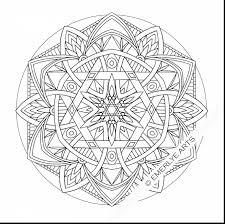 spectacular flower mandala coloring pages with easy mandala