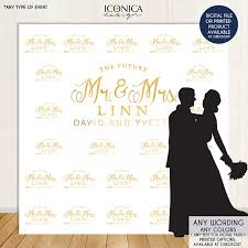 wedding anniversary backdrop photo booth backdrop custom step and repeat backdrop