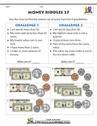 Learning To Write Abc Worksheets Money Math Worksheets Money Riddles