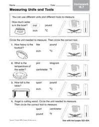 measuring units and tools homework 18 7 1st 3rd grade worksheet