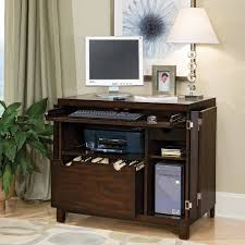 Black Home Office Desks by Furniture Attractive Home Office Design With Desk Armoire And