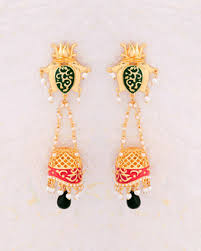 kerala style earrings buy jhumkis pearl silver gold plated jhumkis for women online
