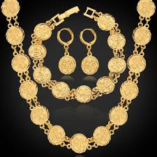 chain set necklace bracelet images Dubai gold jewelry sets necklace bracelet earrings for women jpg