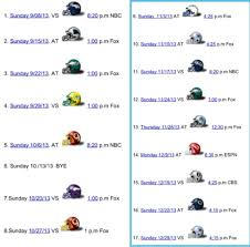 my 2013 new york giants schedule big blue interactive