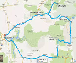 map las vegas and grand what is a itinerary for a week trip to the grand