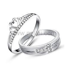 2 wedding rings engraved men women sterling silver engagement rings set for 2